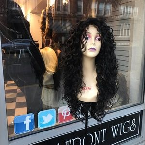 Accessories - Wig Long Curly 4x4 Freepart Swisslace Lacefront